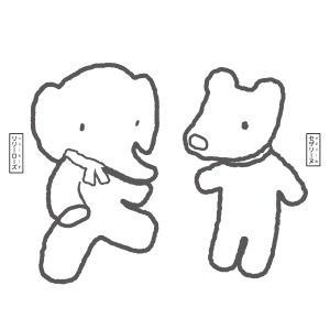 ぬりえ(リリーローズとセザリーヌ)