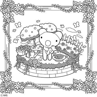 ぬりえ(『おとなのキャラクターズぬりえ』より) コンテンツ画像