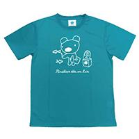 吸汗速乾ペネロペプリント半袖Tシャツ-A