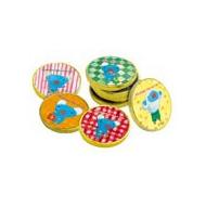 シール付コインチョコ 10枚セット(5柄×2枚)