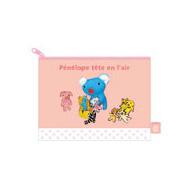 フラットポーチM(ピンク)